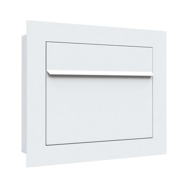 Unterputz Briefkasten - Einbaubriefkasten Sora in Weiss
