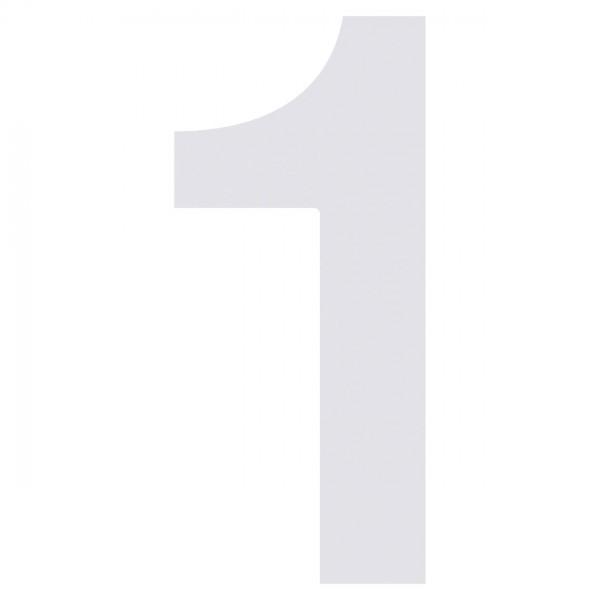 Nummer Design Hausnummer 1 Weiß