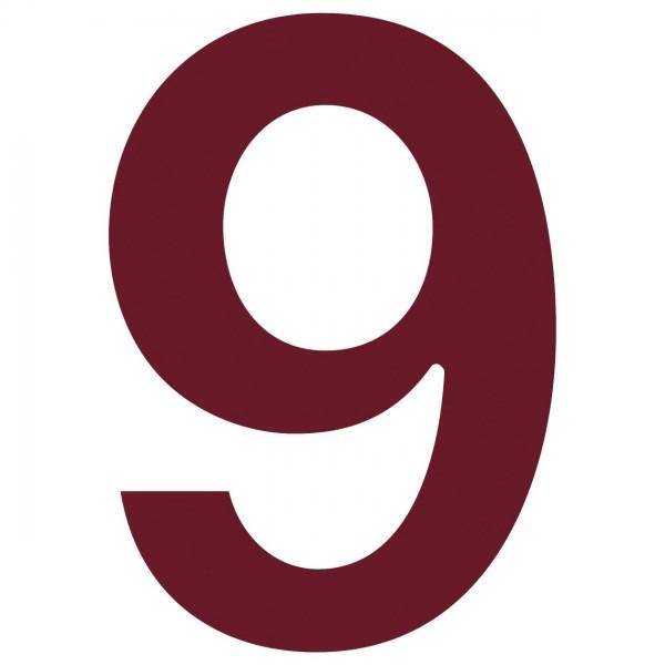Hausnummer ''9'' Rot