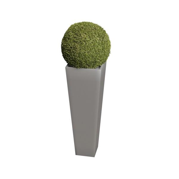Pflanzkübel Skinny Vase Medium in Grau Metallic
