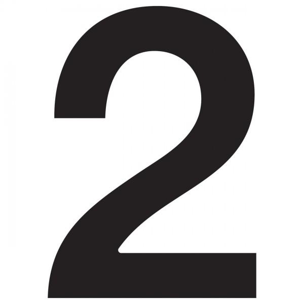 Hausnummer ''2'' Schwarz