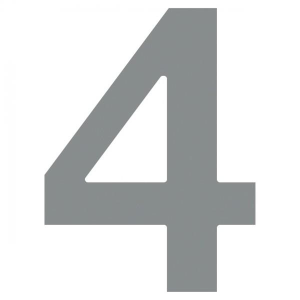 Hausnummer ''4'' Grau Metallic