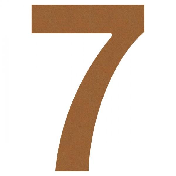 Hausnummer 2 Design Hausnummer aus Edelstahl in Rost