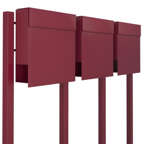 Briefkasten, Design Briefkastenanlage Rot