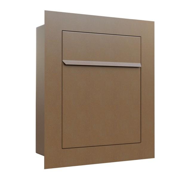 Unterputz Briefkasten - Einbaubriefkasten Bari in Rost