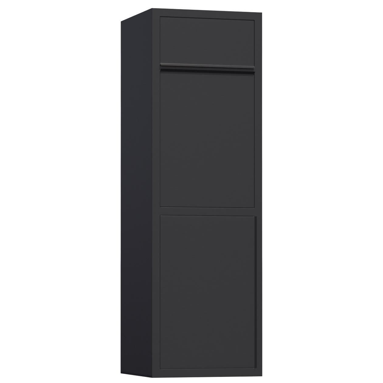 paketbriefkasten design paket briefkasten koloss schwarz. Black Bedroom Furniture Sets. Home Design Ideas