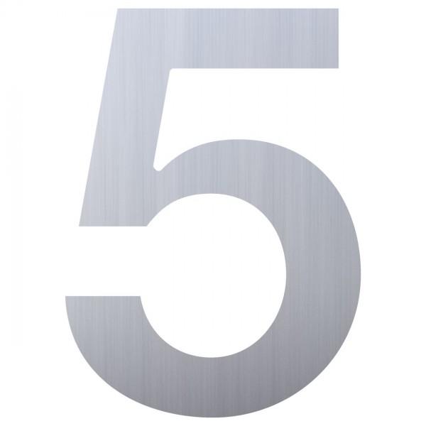 Hausnummer ''5'' Edelstahl