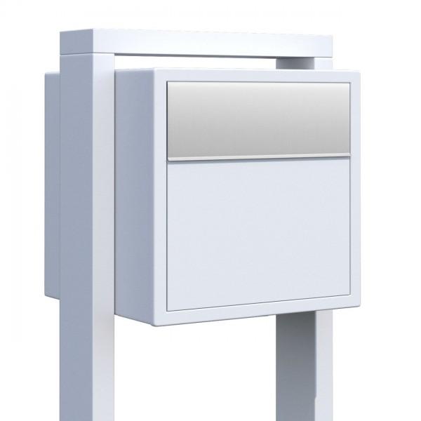 Briefkasten Design Standbriefkasten Weiß