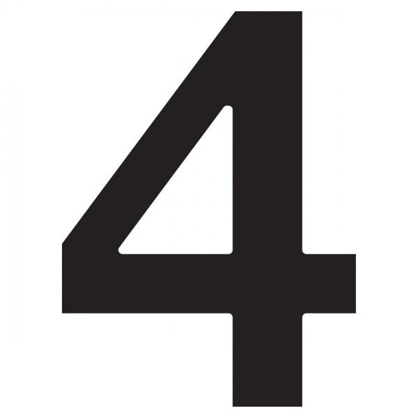 Hausnummer ''4'' Schwarz
