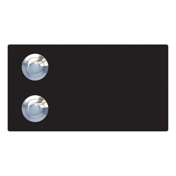 Klingeltaster Oblong for Two Schwarz