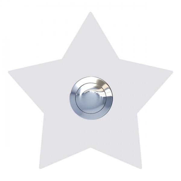 Klingeltaster Stern Weiß