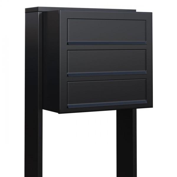 Briefkasten Design Briefkastenanlage Schwarz
