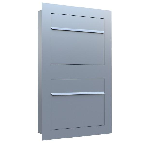 Unterputz Briefkasten - Einbaubriefkasten Sora for Two in Grau Metallic