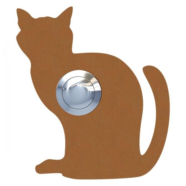 Klingeltaster Katze ''Luna'' Rost