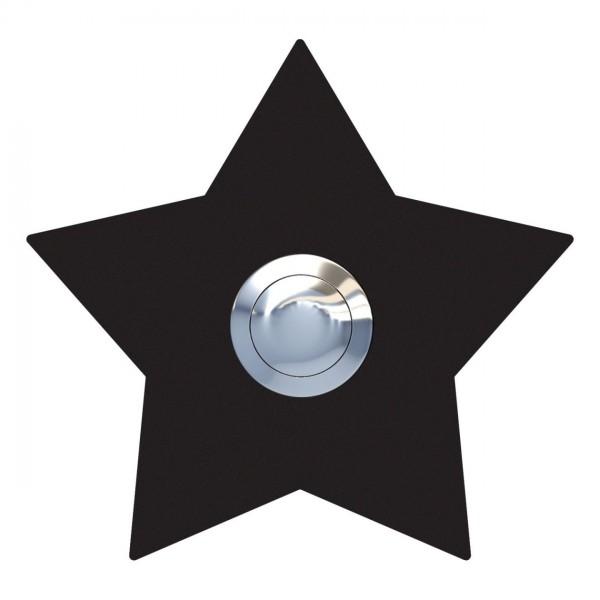 Klingeltaster Stern Schwarz