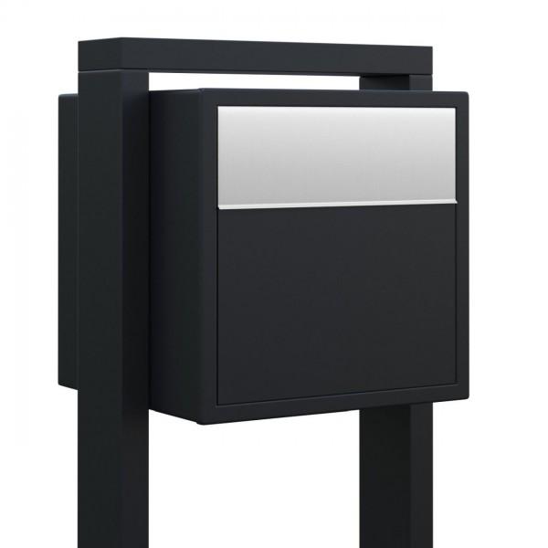 Standbriefkasten Mit Hausnummer standbriefkasten, design briefkasten soprano schwarz bravios