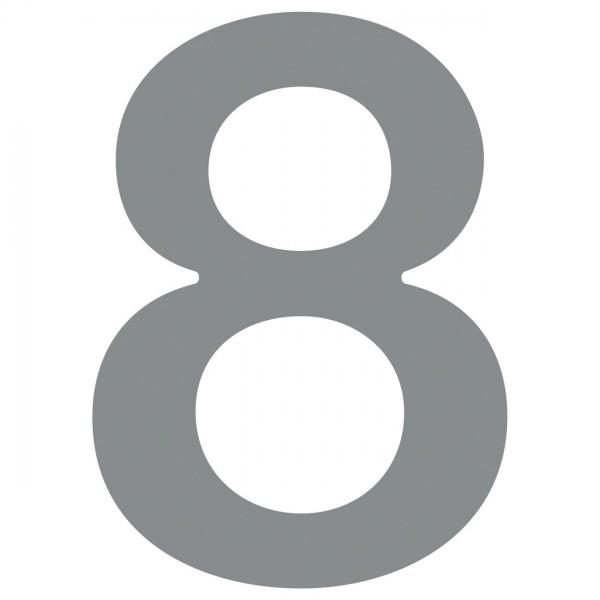 Hausnummer ''8'' Grau Metallic