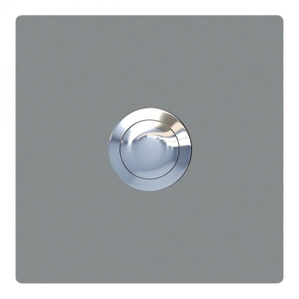 Klingeltaster Quadrat Grau Metallic