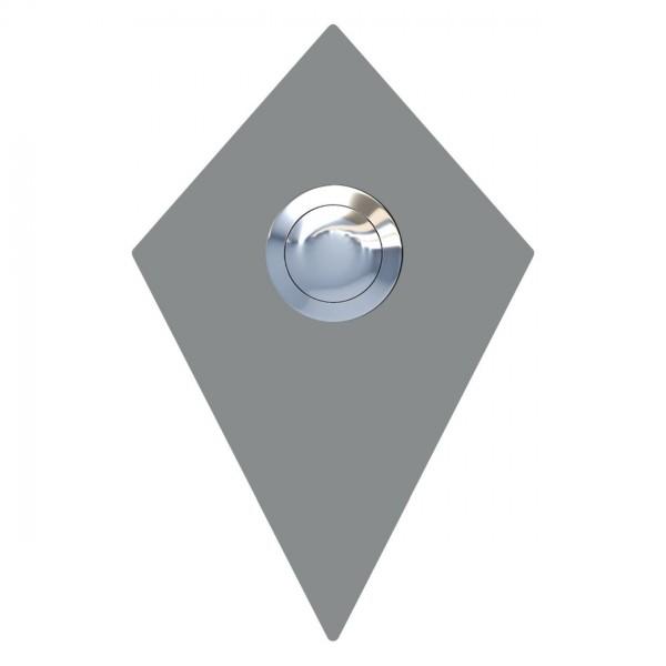Klingeltaster Diamant Grau Metallic