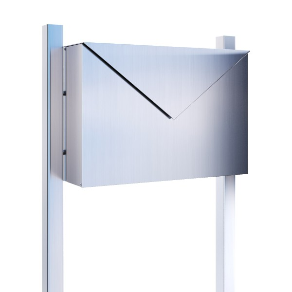 Standbriefkasten Mit Hausnummer standbriefkasten, design briefkasten letter edelstahl - bravios