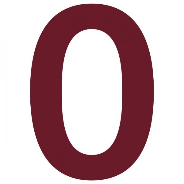 Hausnummer Design Nummer Rot