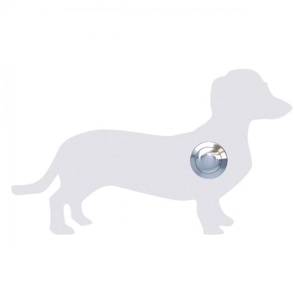 Klingeltaster Hund ''Charly'' Weiß