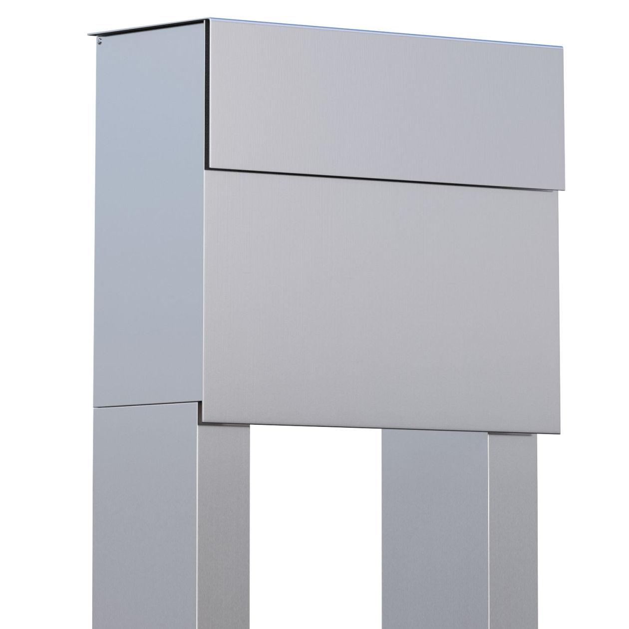 standbriefkasten design briefkasten molto stand edelstahl. Black Bedroom Furniture Sets. Home Design Ideas