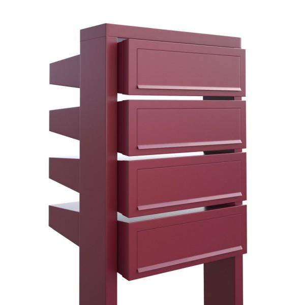 Briefkasten Design Briefkastenanlage Rot