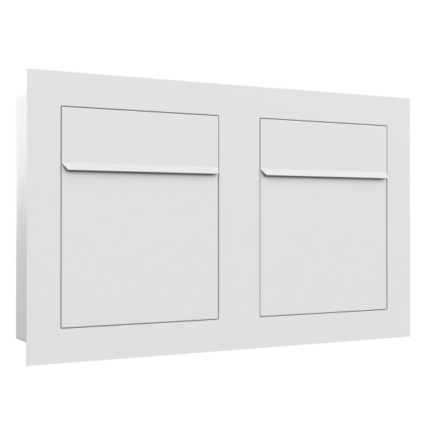 Unterputz Briefkasten - Einbaubriefkasten Bari for Two in Weiß