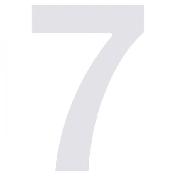 Hausnummer ''7'' Weiß