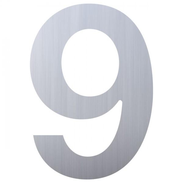 Hausnummer ''9'' Edelstahl