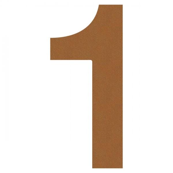 Nummer Design Hausnummer 1 Rost