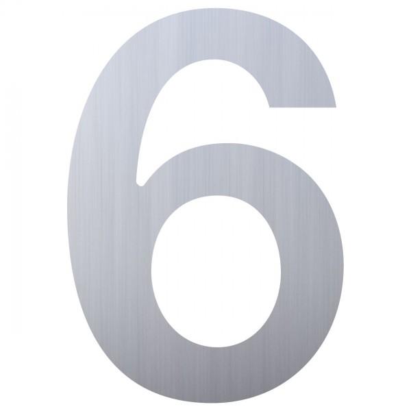 Hausnummer ''6'' Edelstahl