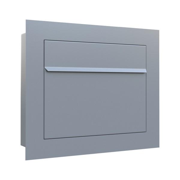Unterputz Briefkasten - Einbaubriefkasten Sora in Grau Metallic