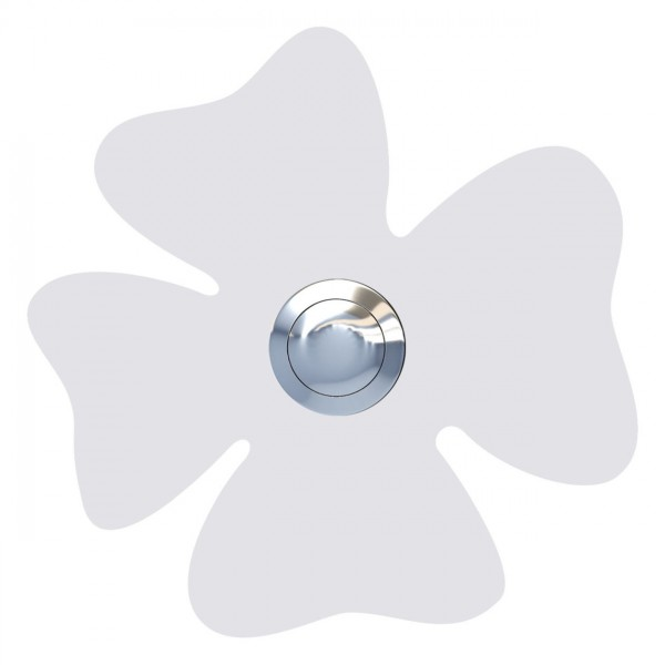 Klingeltaster Kleeblatt Weiß