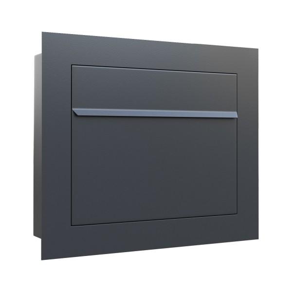 Unterputz Briefkasten - Einbaubriefkasten Sora in Anthrazit