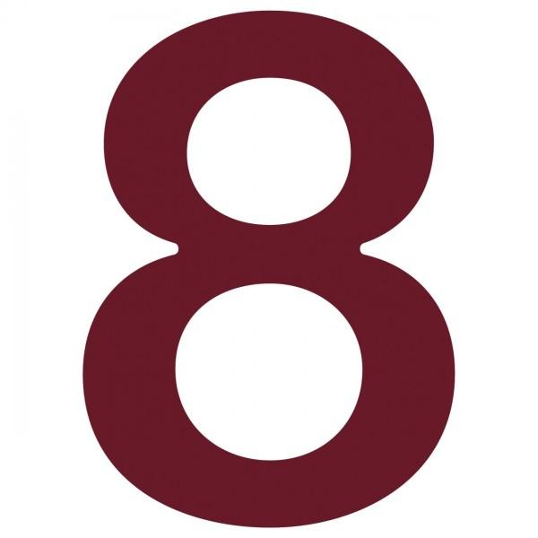 Hausnummer ''8'' Rot