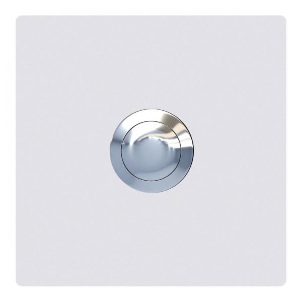 Klingeltaster Quadrat Weiß