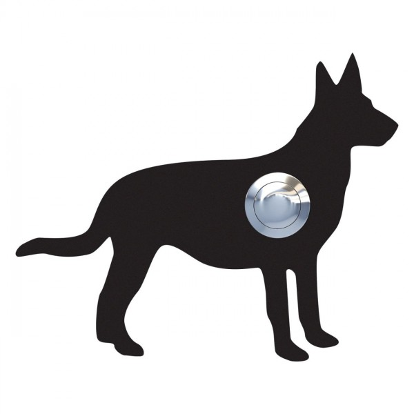 Klingeltaster Hund ''Emma'' Schwarz