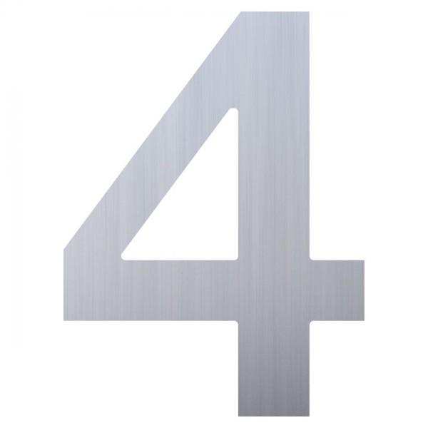 Hausnummer ''4'' Edelstahl
