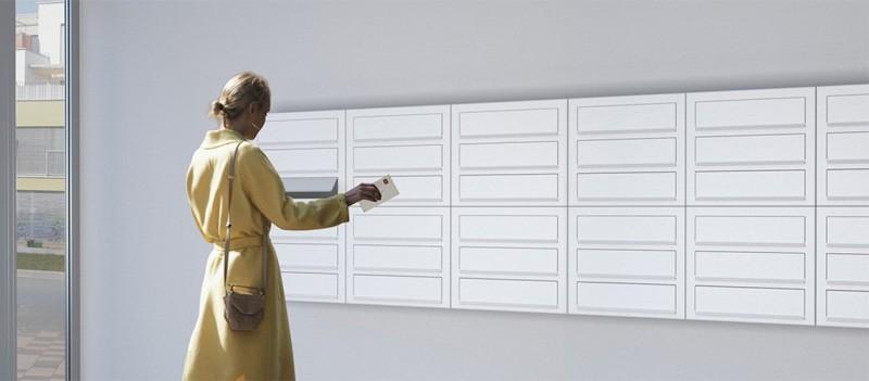 Briefkasten Design Wandbriefkasten modulare Briefkastenanlage Bravios