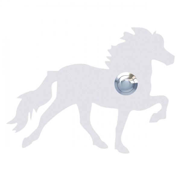 Klingeltaster Islandpferd/Tölter Weiß