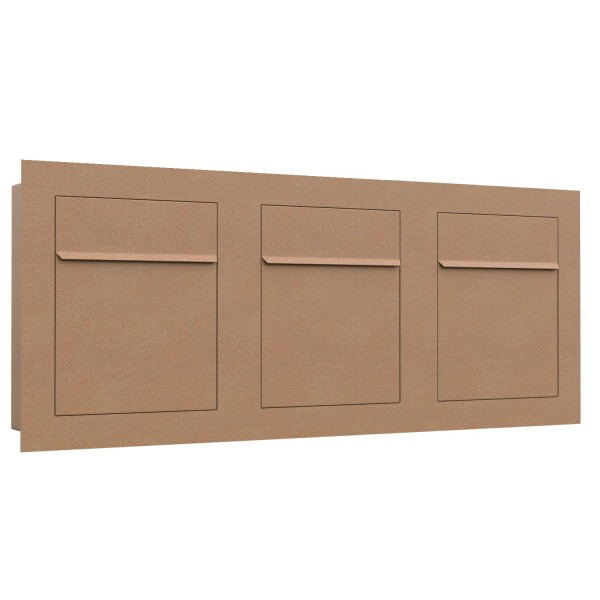 Unterputz Briefkasten - Einbaubriefkasten Bari for Three in Rost
