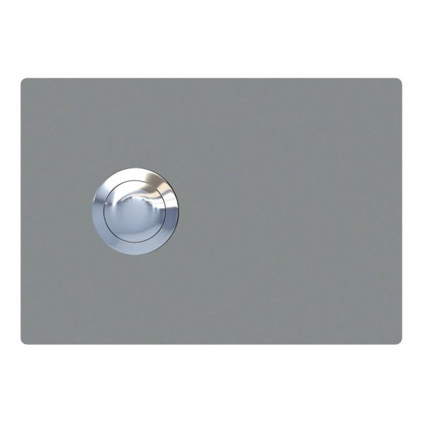 Klingeltaster Rectangle Grau Metallic