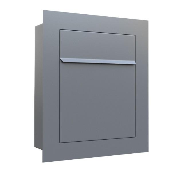 Einbaubriefkasten Bari in Grau Metallic