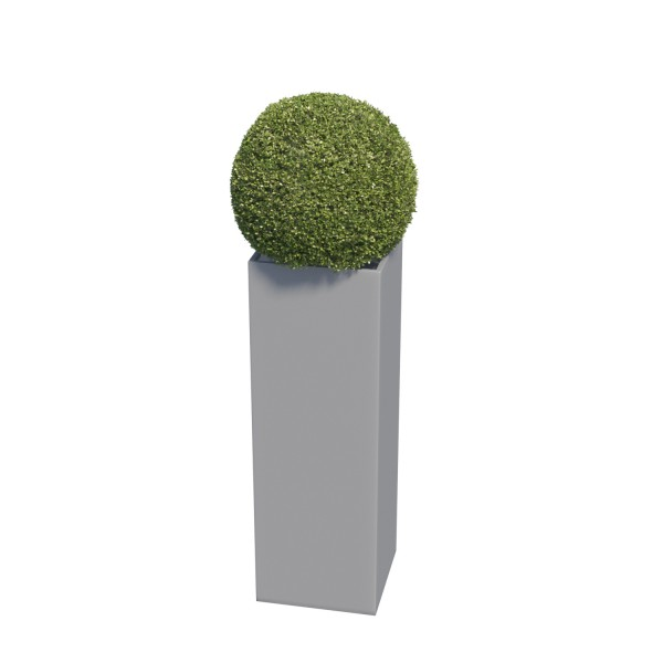 Pflanzkübel Skinny Pillar Medium in Grau Metallic