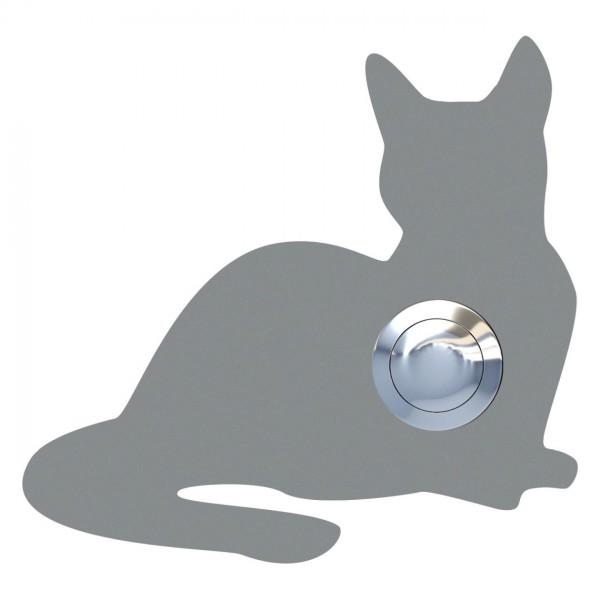 Klingeltaster Katze ''Kitty'' Grau Metallic