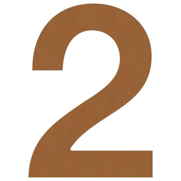 Hausnummer Design Nummer Rost