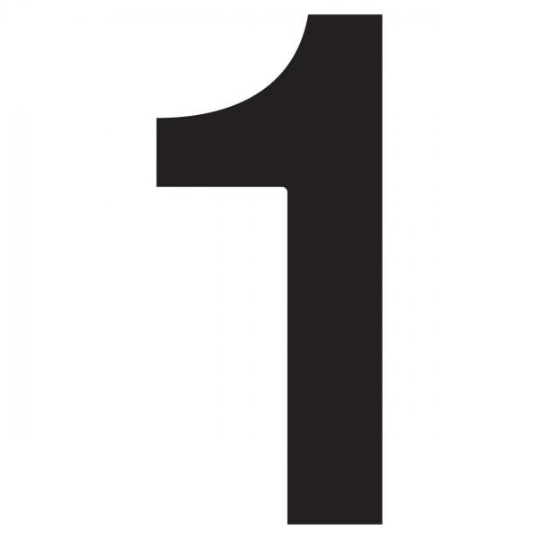 Hausnummer \'\'1\'\' Schwarz