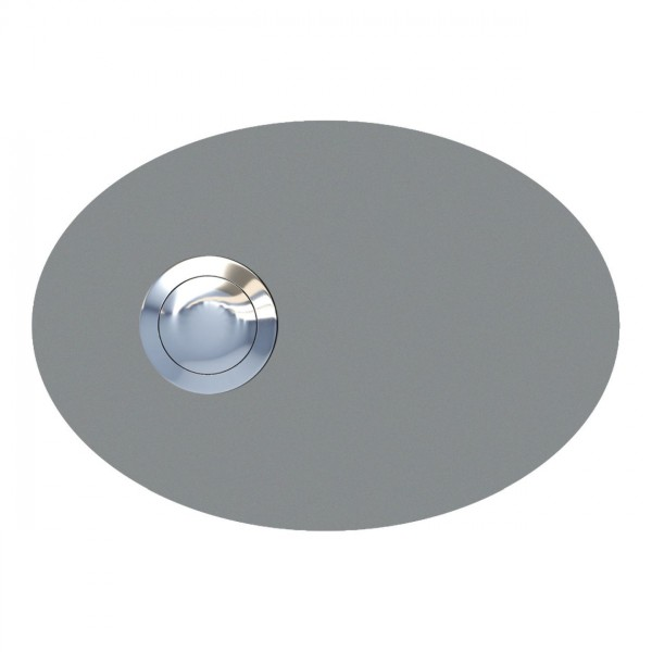Klingeltaster Ellipse Grau Metallic